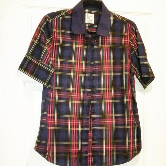 The Shirt by Rochelle Behrens Tops - THE SHIRT by Rochelle Behrens in tartan plaid